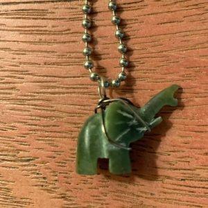 Jewelry - Green soapstone pendant